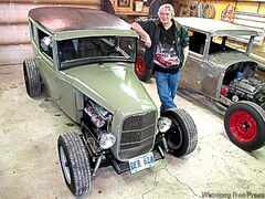 Perry Catton with his 1930 Ford Model Tudor sedan, the MSRA Street Rod of the Year for 2010.