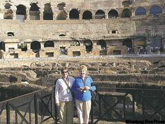 Writer Theresa Storm, left, and her mother, Marion Schadeck, visit the Colosseum in Rome.