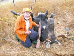 Ben Foord, 91, of Snow Lake recently bagged a four-year-old bull moose in the area.