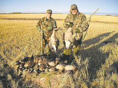 Hunters David Beck and Darrel Rostek took part in the Faces of Freedom event near Minnedosa last year.
