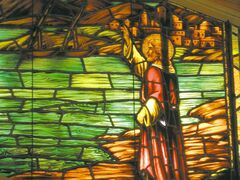 Christ speaks to the fishermen: 'Follow Me, and I will make you fishers of men.'