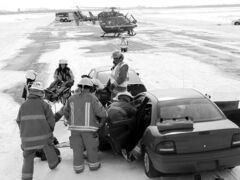 Using teamwork to land a helicopter is a vital piece of the puzzle when helping accident victims.  STARS, the St. Andrews and West St Paul Fire departments simulated the rescue of a car accident at St. Andrews Airport Saturday. Fire Chief Ken Peacock said l. March 9, 2013