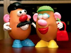 WAYNE GLOWACKI/WINNIPEG FREE PRESS Detour Collector.... Mr. and Mrs. Potato Head,  part of the Mr. Potato Head collection  of  Mark Leggott, University Librarian at the U of W.    Sept 15  2006 closecut