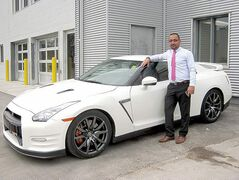 The venerable Nissan GT-R with veteran Vickar Nissan sales rep Mehdi Moghareh.