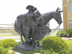 High Desert Princess, by Mehl Lawson, stands guard out front of the National Cowgirl Museum and Hall of Fame in Fort Worth.
