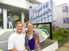 Phil Marriott and Donna Anderson of Peepers Swimwear