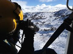 Rescue crew officer Luke Ashford uses a thermal imaging camera in a helicopter in this undated handout photo. The Canberra Times reports that an air search for Prabhdeep Srawn is focusing on a specific location within the Kosciuszko National Park, about 350 kilometres southwest of Sydney. Srawn, a 25-year-old Brampton, Ont., man hasn't been heard from since parking his rental car May 13 in the village of Charlotte Pass.THE CANADIAN PRESS/HO - Westpac Life Saver Rescue Helicopters - Facebook