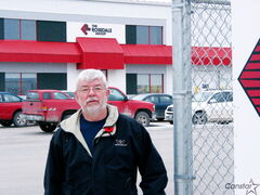 The Rosedale Group's regional manager Chris Lerm stands outside the company's new building constructed in 2012 within CentrePort.