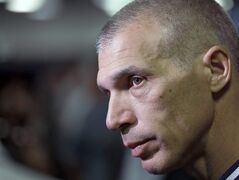 New York Yankees manager Joe Girardi answers a question about shortstop Derek Jeter after a news conference Wednesday, Feb. 19, 2014, in Tampa, Fla. Jeter has announced he will retire at the end of the 2014 season. (AP Photo/Chris O'Meara)