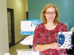 Suzanne Stockmann-Mansell advertises her chiropractic business in the new Headingley directory.