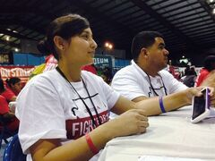 Fast food workers from across the U.S. attend a convention in Villa Park, Ill. on Saturday, July 26, 2014. Comparing their campaign to the civil rights movement, fast food workers from across the country voted Saturday to escalate their efforts for $15-an-hour pay and union membership by using nonviolent civil disobedience. (AP Photo/Tammy Webber)