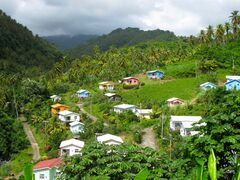 The picturesque, colourful village of Manning on St. Vincent.