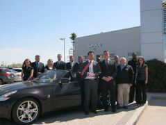 The Birchwood Infiniti Nissan award-winning sales team.