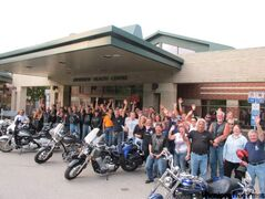 Members of the Manitoba motorcycle community spent an evening showing and shining with Riverview patients.