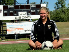 Sarah Haiko, 21, mechanical engineering student in her fourth year of eligibility, has been named one of the new Bisons women's soccer captains. In addition to new captains, the Bisons have a new coach and a new style of play to take into the 2013 season.