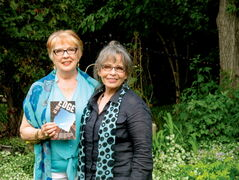 Marjorie Anderson (left) and Deborah Schnitzer collaborated, and enlisted the help of authors both renowned and unknown, to create their new novel At the Edge.