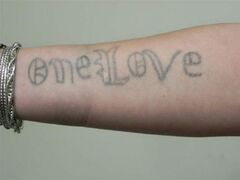 Genevieve Santos has this tattoo on her arm.