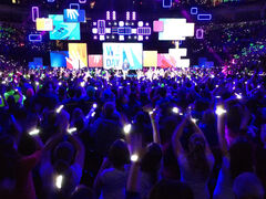 The crowd stands on its feet as We Day Manitoba 2013 begins.
