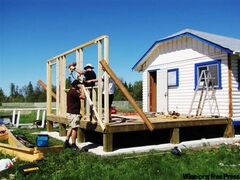 Volunteers expand the synagogue at Winnipeg Beach.