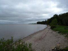 The beach at Beaver Creek Provincial Park, June 12, 2010.