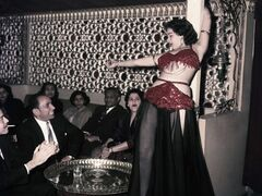 Ferial, a belly dancer, performs at the Abdin Casino in Cairo, Egypt on March 25, 1956. THE CANADIAN PRESS/AP, file