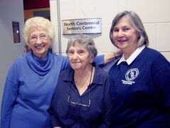 "North Centennial Seniors Association president Bernice Feledechuk (from left), member Edith Landy and Barbara Morris, co-ordinator for the association's ""Grandma and Grandpa Day Care Water Orientation Progam,"" which celebrates its 30th anniversary this year."