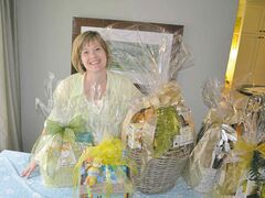 Laurel Wiebe's business, Just Gift Baskets, will sell up 1,000 gift baskets this Christmas season.