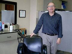 Some of Simon Ungarian's clients have been coming to have their hair cut by him for more than 40 years.