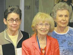 Helena Bohonos, Margaret Pestrak, Alyce Budinsky at the Ukrainian Museum of Canada — Manitoba Branch.