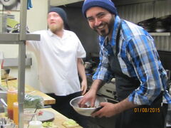 Sous chef Don LaFrenais is trying out new recipes for Raw: Almond, which opens Jan. 22 on the Assiniboine River.
