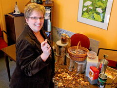 Kathy Strachan, executive director of Villa Rosa, says pennies have been coming in by the coffee tin since the organization launched its penny drive.