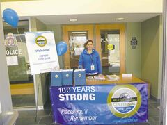 Rhiana Carlson, assistant CAO /manager of finance & administration for the RM of East St. Paul, at the recent centennial committee open house and barbecue.