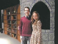 April 8, 2015 - Mennonite Brethren Collegiate Instititute students Ezra Taves (left) and Hannah Doerksen scored lead roles in MBCI's production of