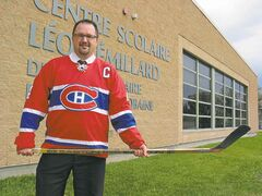 Daniel Preteau, Centre scolaire Léo-Rémillard's principal, hopes an upcoming fundraiser for the school's future hockey academy will net some interest from community members.