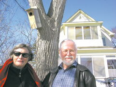 Betty and Herman Zwanzig have two wood duck nest boxes at their riverside home in St. James.