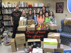 Ecole Sun Valley School students are shown with Chili From the Heart representatives.