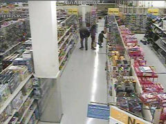 Screen grab of surveillance video released by Winnipeg Police. A suspect groped a woman in a Winnipeg store in September 2012.