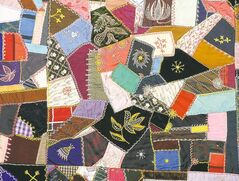 The 1901 quilt created by the author's grandmother, Florence.
