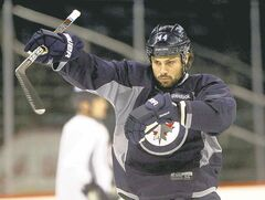JOE BRYKSA / WINNIPEG FREE PRESS Zach Bogosian says he's recovered from wrist surgery.