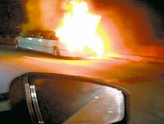 A private video from the scene shows the stretch limousine on fire Saturday on the San Mateo-Hayward Bridge in San Francisco. A newlywed bride and five of her friends were burned to death inside. Four women and the driver escaped.