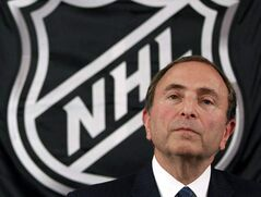 NHL hockey commissioner Gary Bettman