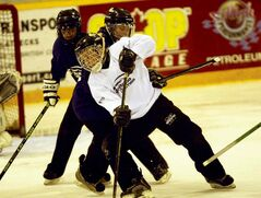 Ringette coaches in River East are preparing their teams for action such as this, from the 2010 Manitoba Games.