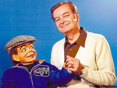 Archie Wood (L) and Uncle Bob in the 'Archie and his Friends' show.