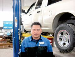 Nicanor Toga of Eastern Chrysler benefits from the WISNITIT program for immigrant tradespeople.