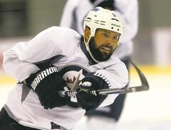 Fidel Castro, a.k.a. 'The Beard,' has nothing on Jets blue-liner Mark Stuart, who showed off his new foliage at the MTS Iceplex on Friday.