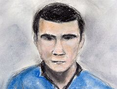 Matthew de Grood is shown in a sketch by Janice Fletcher on April 22, 2014 in Calgary. THE CANADIAN PRESS/Janice Fletcher