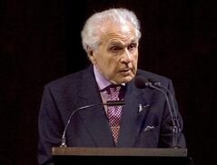 FILE - This Sept. 16, 2007 file photo shows Julius Rudel, conductor and former director of New York City Opera speaking during a gala tribute to soprano Beverly Sills at the Metropolitan Opera in New York. Rudel died of natural causes on Thursday, June 26, 2014 in New York. He was 93. (AP Photo/Stephen Chernin, File)