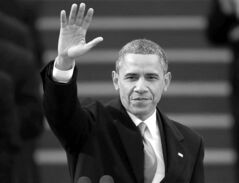 U.S. President Barack Obama waves after his speech at the ceremonial swearing-in  at the U.S. Capitol during the 57th Presidential Inauguration Monday.