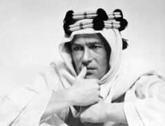 Peter O'Toole is shown in the title role in the film