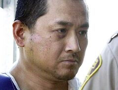 FILE - Vince Li is shown in a Portage La Prairie court Tuesday, Aug. 5, 2008.